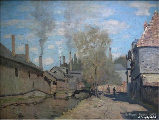Rue Eau de Robec par Claude Monet
