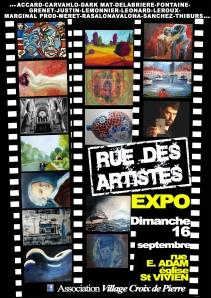 AFFICHE RUE DES ARTISTES 2012