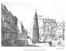 Croix de Pierre vers 1845