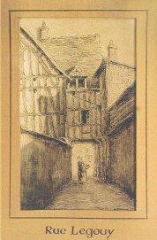 Rue Legouy, Charles Dubourg, Illustrateur Rouen fin 19ème