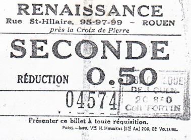 Ticket Le Renaissance