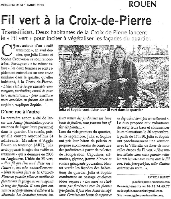 Fil Vert X de Pierre - Paris Normandie - 250913