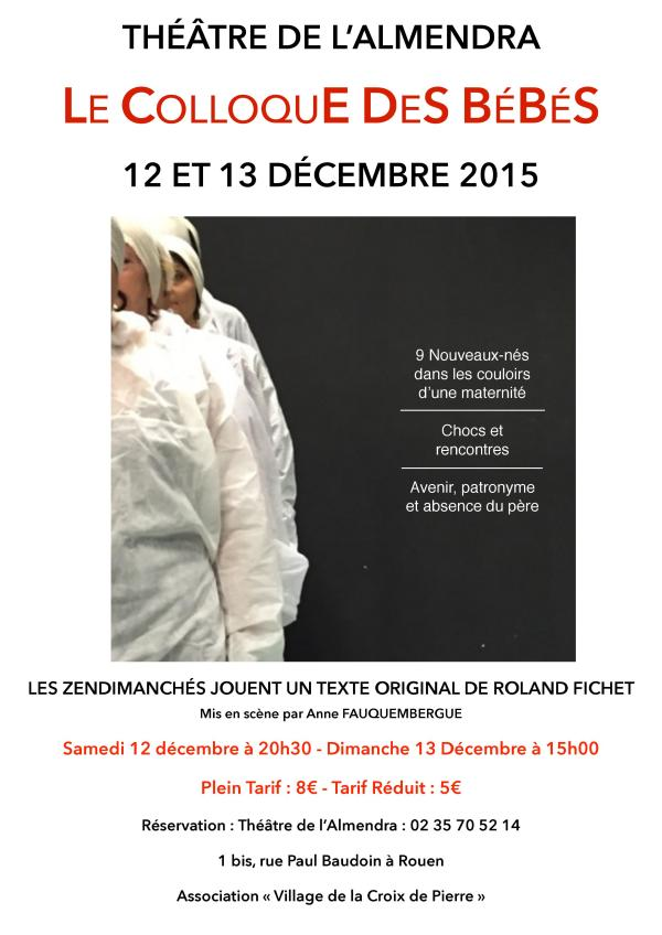 Affiche Le Colloque des Bébés - Dec2015